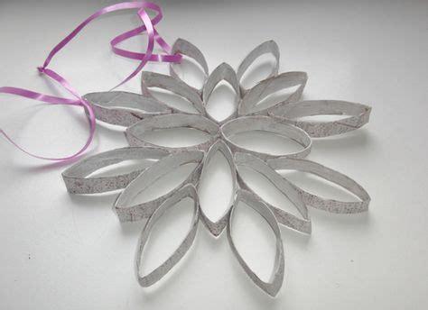 bloemen maken van wc rollen 25 beste idee 235 n over sneeuwvlok knutsels op pinterest