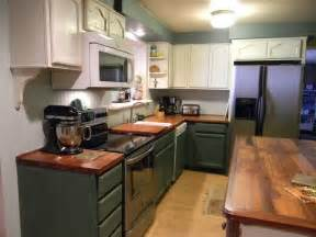 Painted Wooden Kitchen Cabinets Furniture Green Kitchen Cabinet Collection Design