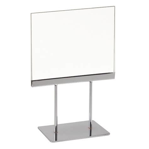 signholder counter top 7 quot w x 5 1 2 quot h 2 3 quot l stems