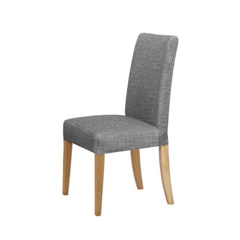 grey and white dining chair covers grey faux linen stretch dining room chair cover temple