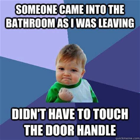 Bathroom Meme - bathroom door locks memes