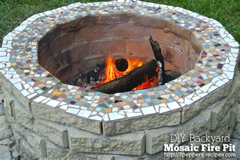 pit mosaic backyard mosaic firepit from 3peppers recipes