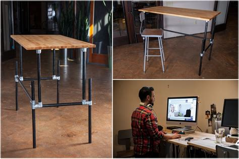 build your own sit stand desk building an adjustable height standing desk video