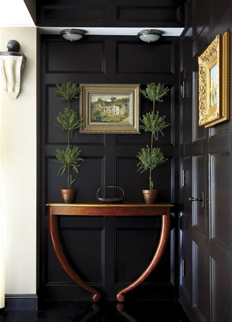 black wood paneling foyers with painted wainscoting wood paneling desire to