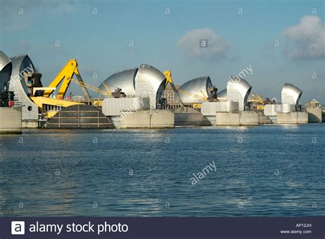 thames college of technology woolwich london river thames barrier flood defence woolwich london england