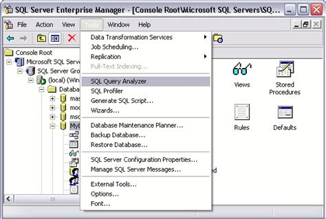 tutorial on sql queries with an exle sql server 2000 create table from select designer tables