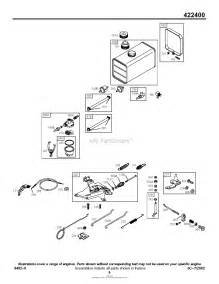 briggs and stratton 422437 0751 01 parts diagram for controls fuel tank