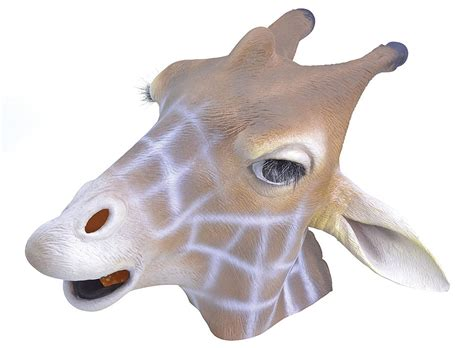 giraffe rubber st giraffe mask animal accessories mega fancy dress