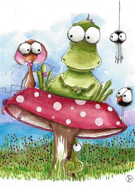 aceo print whimsical illustration dinosaur mouse bird