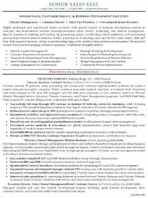 Sles Of Executive Resumes by Resume Sle 16 Senior Sales Executive Resume Career Resumes