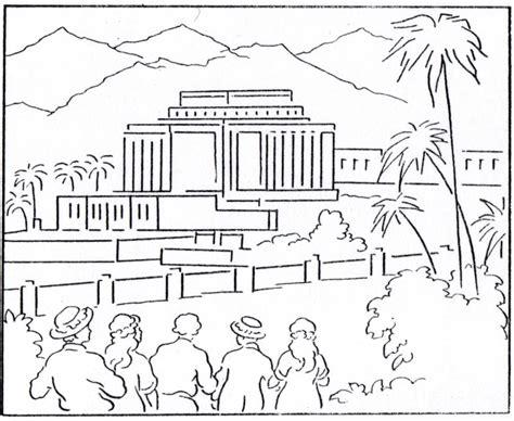 temple coloring page lds lesson ideas