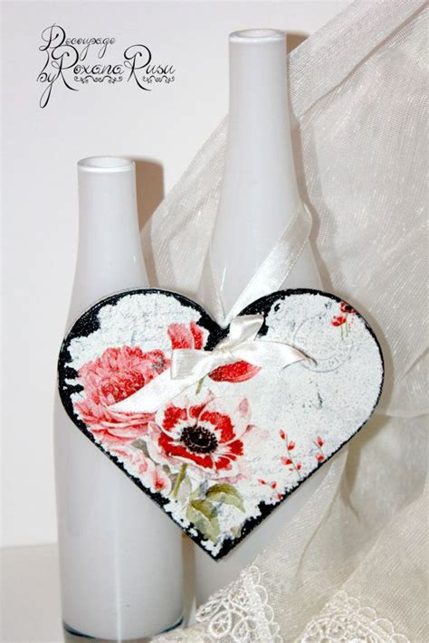 shabby chic heart wedding favor wedding decoration
