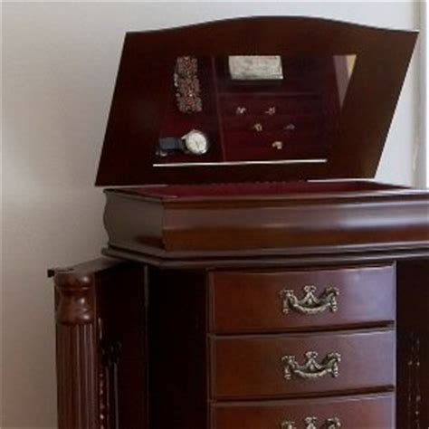 Jewelry Armoire Mahogany by Sei Freestanding Jewelry Armoire Mahogany