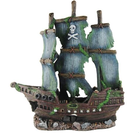 sunken pirate ship fish tank ornament aquarium decoration