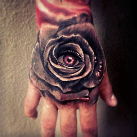 rose with eye tattoo artist carl grace eye ink ink