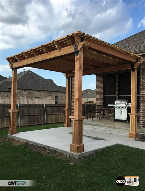 building a pergola on a patio pergola on a new concrete patio which looks like a great