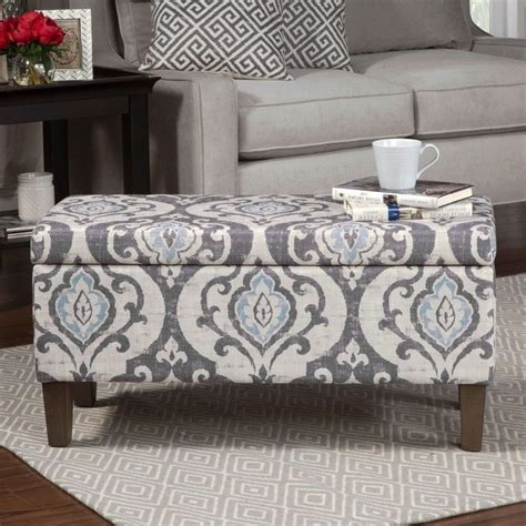 damask storage ottoman damask storage ottoman square railing stairs and kitchen