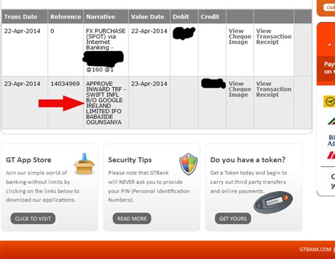 how to add gtbank account and bic code to adsense payment settings ogbongeblog
