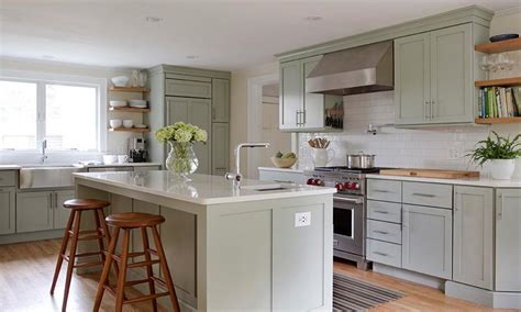 sage green kitchen ideas white kitchen cabinets with copper sink quicua com