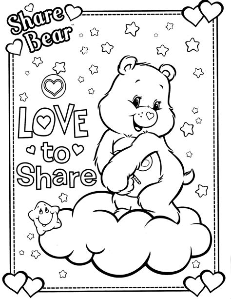 share your care day printable care bears coloring pages care bears 15 coloringcolor com