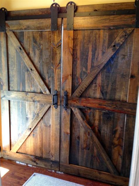 Barn Door Lumber Brace Barn Doors Walnut By Dixonanddad On Etsy Barn Doors