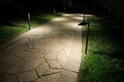 wired pathway lights landscape led path lights w offset 5 quot square light