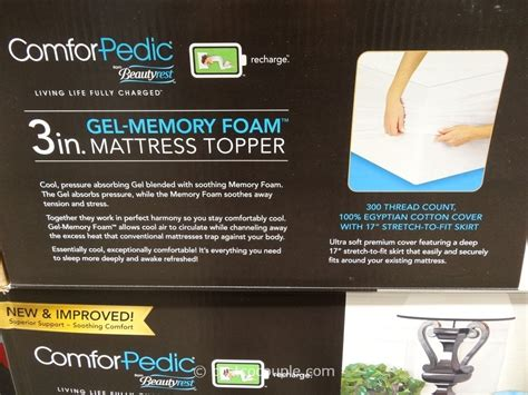 Costco Gel Memory Foam Mattress Topper by Costco Tempurpedic Mattress Tempurpedic On Sale At Costco
