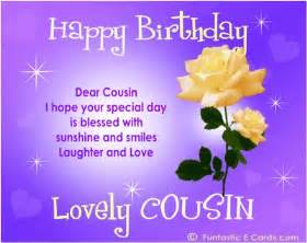 saying happy bday cousin free online family birthday