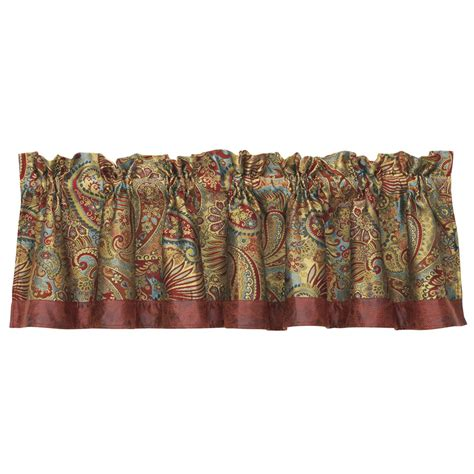 paisley valance curtains san angelo paisley valance
