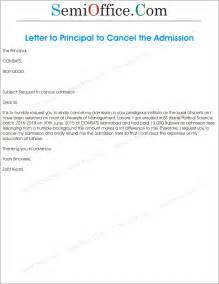 College Admission Cancellation Letter Format Application For Cancellation Of Admission Semioffice