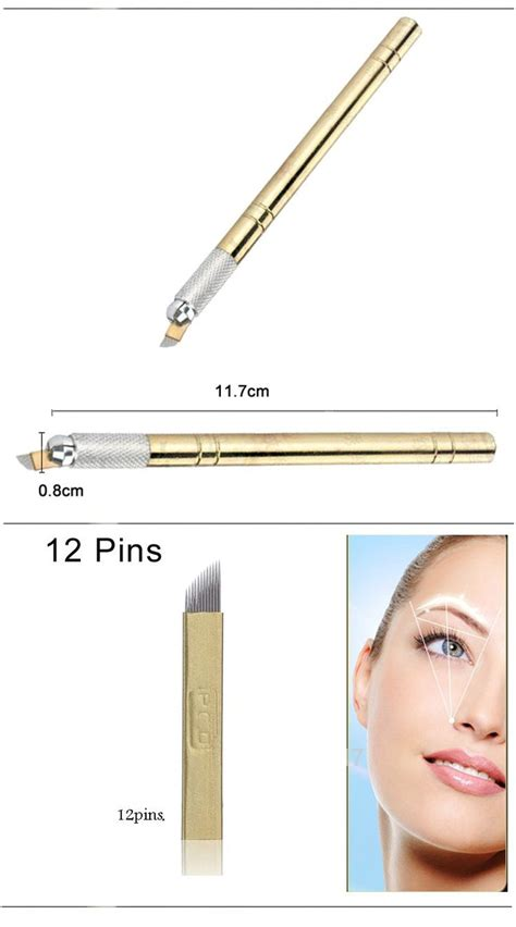 permanent tattoo pen golden tebori pen microblading pen machine for