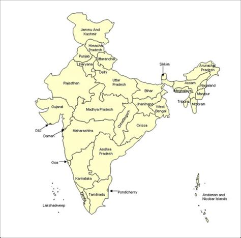 India Powerpoint Map Editable Map Of India