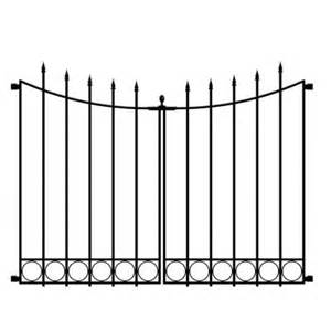 Home Depot Decorative Fence Hton Bay Beaumont 3 75 Ft X 3 33 Ft Black Steel Decorative Fence Gate 860169 The Home Depot