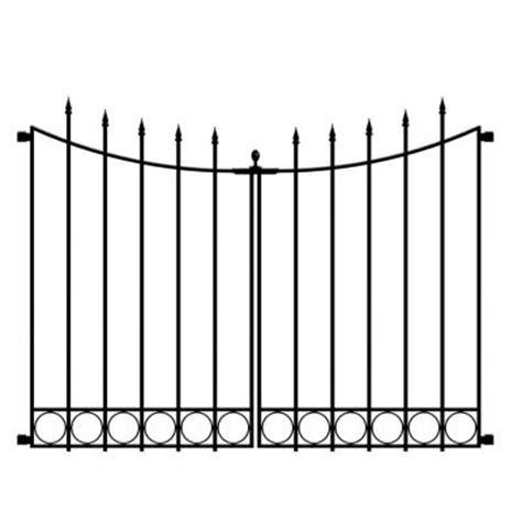 Decorative Fence Panels Home Depot by Hton Bay Beaumont 3 75 Ft X 3 33 Ft Black Steel