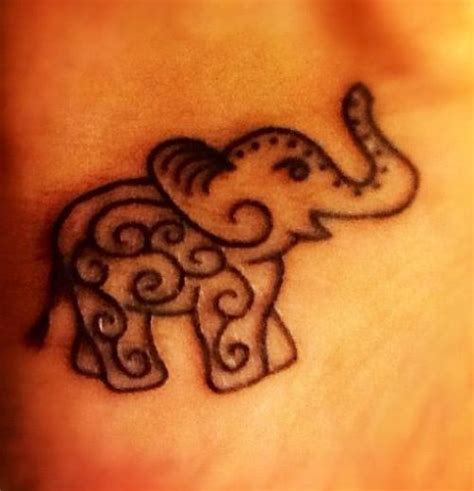 simple elephant henna tattoo simple tribal elephant wollerl1302