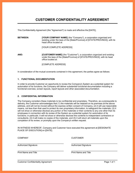 financial non disclosure agreement template 9 financial non disclosure agreement template purchase