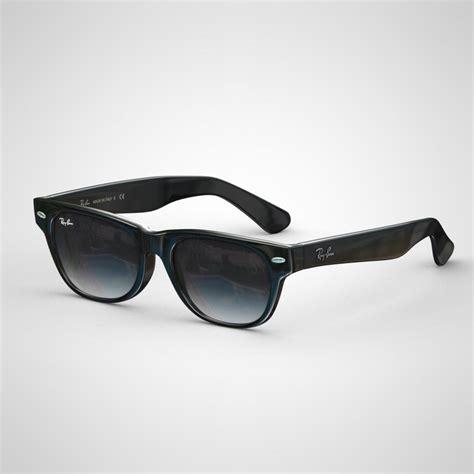 Original New Model Kacamata Aviator Polarized Sunglasses Black Frame rayban new wayfarer rb2132 3d model