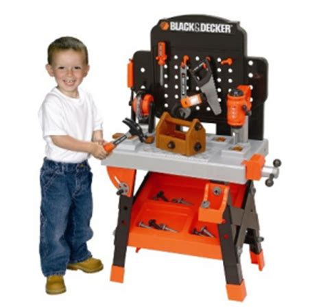 black and decker childrens tool bench black decker junior power workshop 35 shipped down