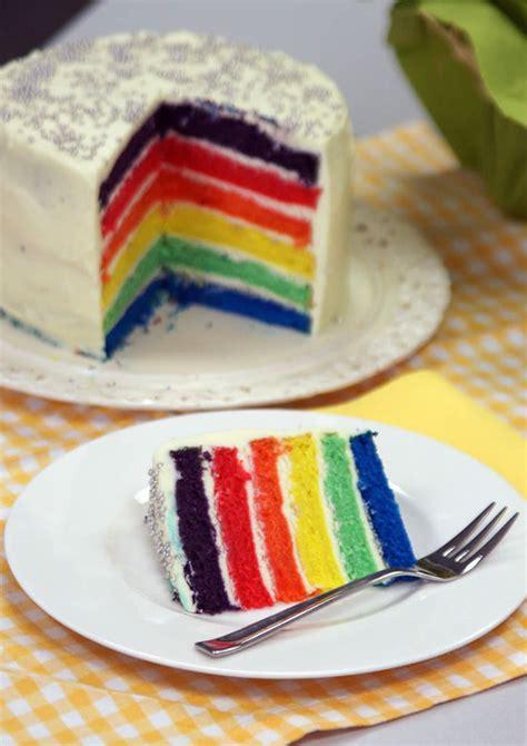 Rainbow Cake Regenbogen Kuchen Usa Kulinarisch
