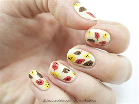 leaf pattern nails 21 thanksgiving nail ideas to dawn on your digits
