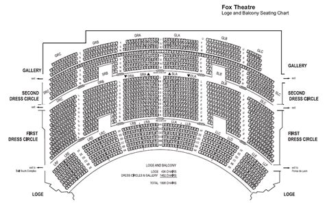 fox theatre atlanta seating chart  seat numbers www