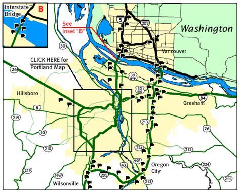 map of oregon 205 portland metro oregon road and traffic cams