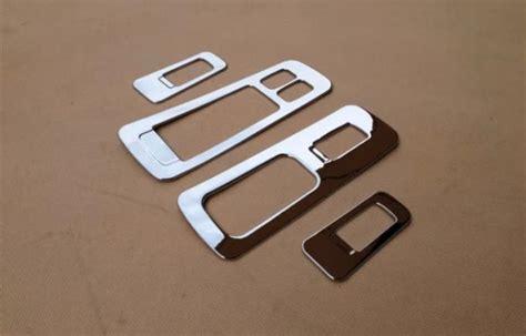 Satu Set Cover Penutup Handel Pintu Luar Warna Silver C Limited chrome jendela beralih garnish untuk jac s5 2013 interior