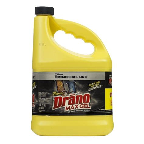 drano max gel bathtub drano 1 gal max gel clog remover 024109 the home depot