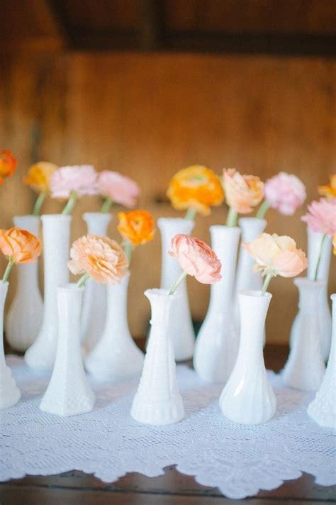 milk glass wedding centerpieces 5 unique wedding centerpiece combinations that make a