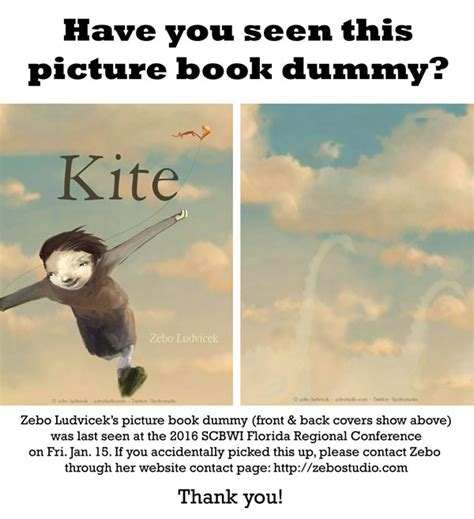 picture book dummy zebo ludvicek s kite picture book dummy missing after