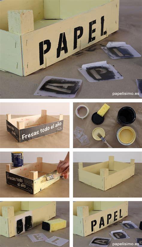tecnicas para decorar cajas de carton c 243 mo decorar cajas de fruta papelisimo