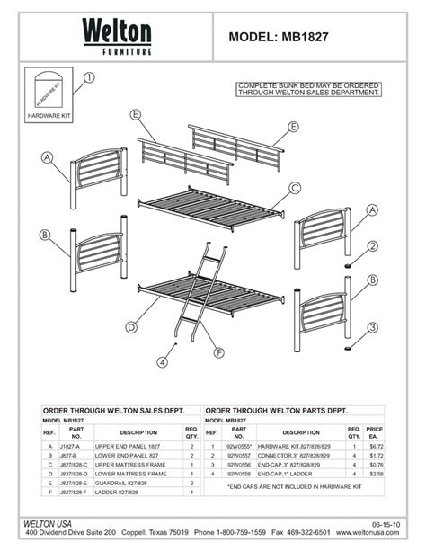 Parts Of A Bunk Bed Bunk Beds Parts My