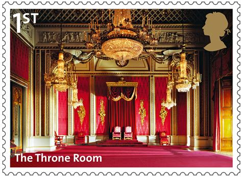 the throne room buckingham palace the postal museum archive