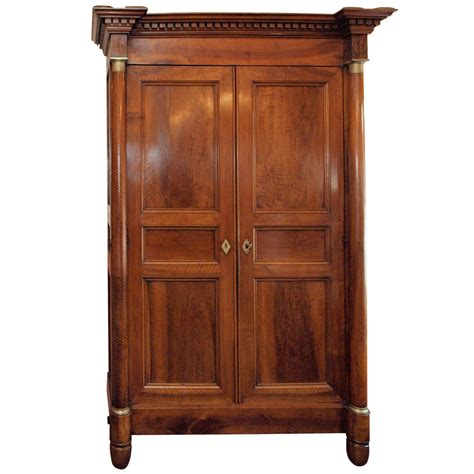walnut armoire fine french empire period walnut armoire for sale at 1stdibs